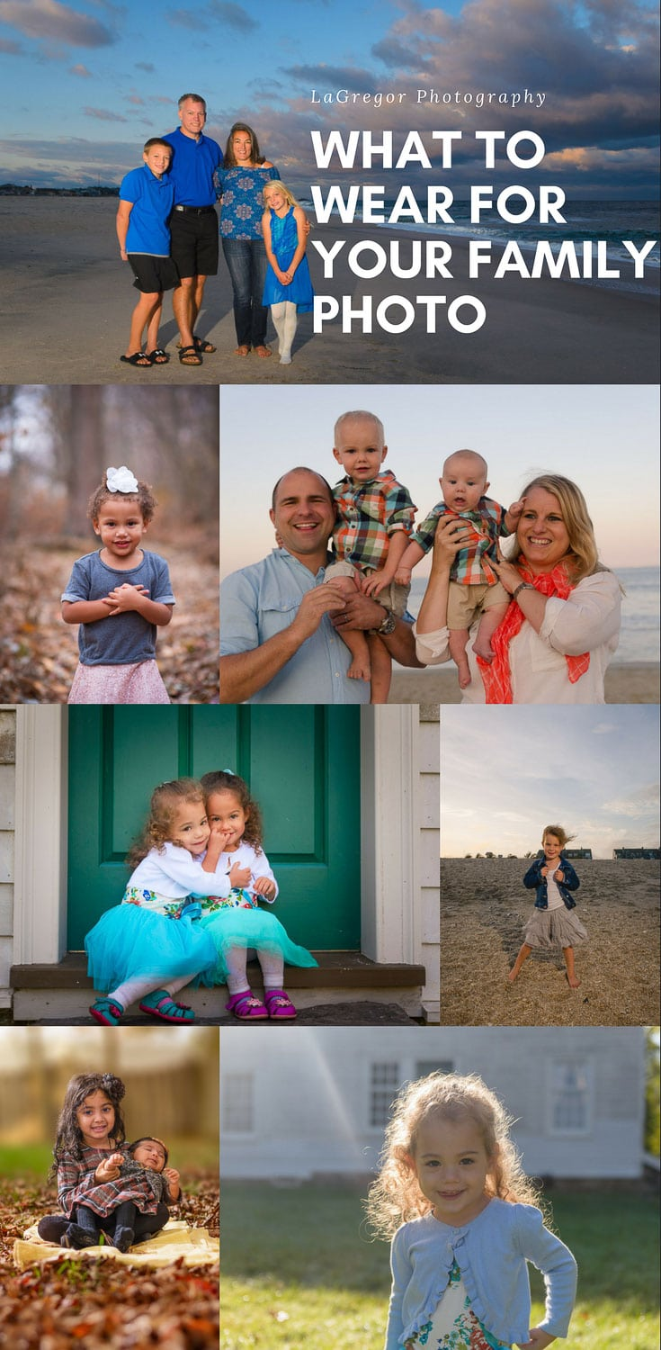 What To Wear For Your Family Portrait | A Photographer's Guide to choosing the best family photo outfits and deciding what to wear to ensure everyone looks their best. #photography #photographer #njphotographer