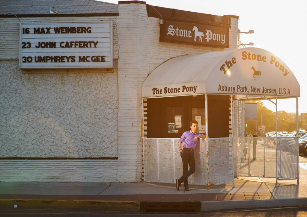 Asbury Park portrait in front of the Stone Pony